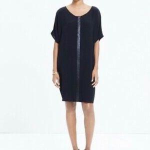 Madewell leather trimmed tunic/shirt dress, XS.